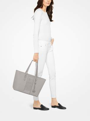 MICHAEL Michael Kors Jet Set Travel Grommeted Saffiano Leather Tote