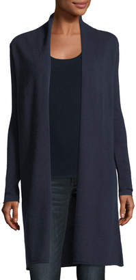 Neiman Marcus Classic Cashmere Duster Cardigan, Plus Size
