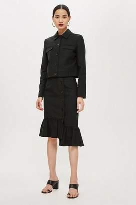 Topshop Womens Fishtail Hem Midi Skirt