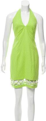 Laundry by Shelli Segal Embellished Halter Dress