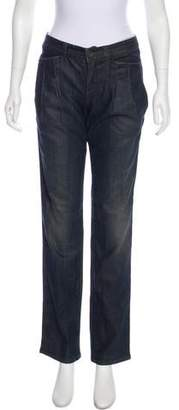 Theyskens' Theory Mid-Rise Straight-Leg Jeans