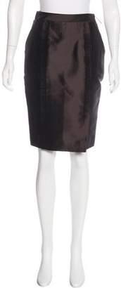 J. Mendel Silk Knee-Length Skirt