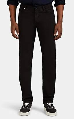 Marco Pescarolo Men's Cotton-Silk Five-Pocket Trousers - Black