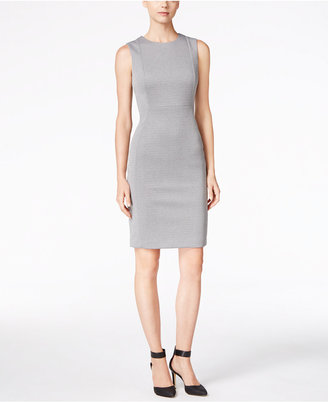 Calvin Klein Sleeveless Heathered Sheath Dress $89.98 thestylecure.com