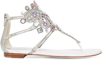 Rene Caovilla 10mm Swarovski Plexi & Leather Sandals