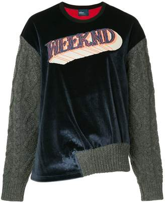Kolor knitted sleeves sweatshirt