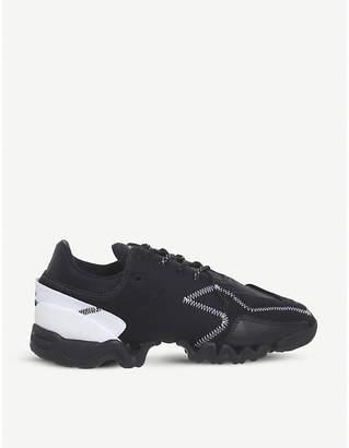 adidas Y3 Ekika leather and neoprene trainers