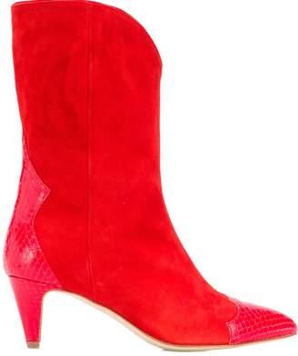 The Seller snake embossed detailed boots