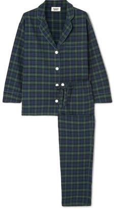 Sleepy Jones Marina Checked Cotton-flannel Pajama Set - Black