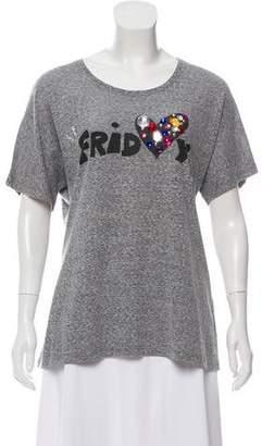 Sonia Rykiel Sonia by Embellished Graphic T-Shirt