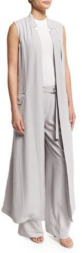 DKNYDKNY Long Crepe Trench Vest, Cement
