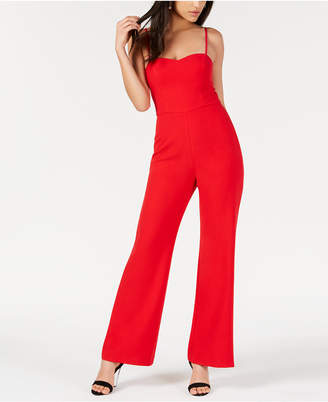 French Connection Sweetheart-Neck Wide-Leg Jumpsuit