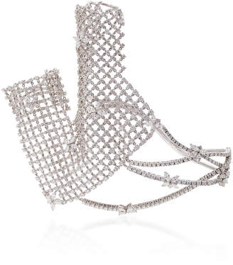 Yeprem Y-Conic Diamond Net Hand Bracelet