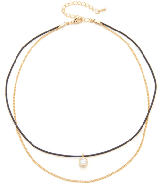 Jules Smith Merci Crystal & Chain Choker Necklace $55 thestylecure.com