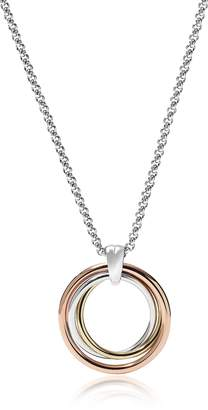 Fossil Tri-Tone Circle Women's Necklace