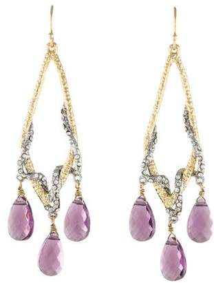 Alexis Bittar Maldivian Amethyst & Crystal Chandelier Earrings