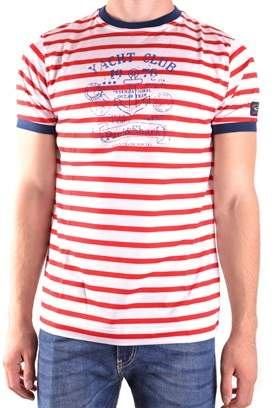 Paul & Shark Men's White/red Cotton T-shirt.