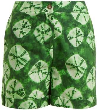 Stella Jean Tie-dye print cotton shorts