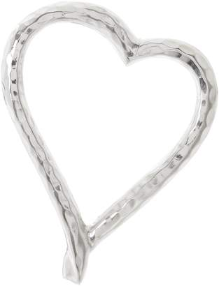 Linea Beaten Metal Heart Napkin Ring Set of 4