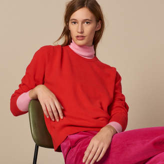 Sandro Cashmere sweater with embroidered logo