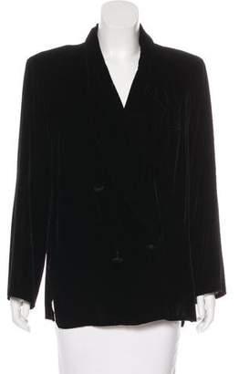 Tahari Structured Velvet Blazer