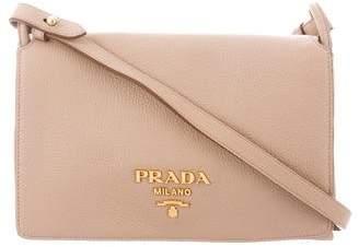 Prada Vitello Daino Double Gusset Shoulder Bag