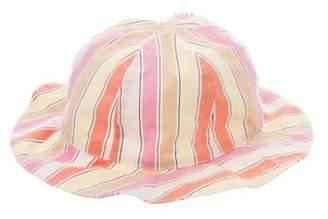 Rachel Riley Girls' Striped Bucket Hat
