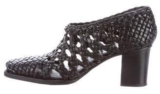 Céline Woven Leather Booties