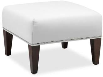 Williams-Sonoma Fairfax Square Ottoman, Tapered Leg with Smooth Top