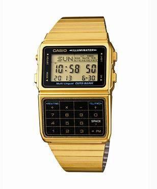 Casio Vintage Databank Duo Gold Watch
