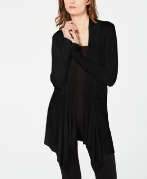 INC International Concepts I.n.c. Ribbed-Knit Draped Cardigan, Created for Macy's
