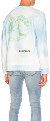 032c All Over Print Sweater in Blue | FWRD