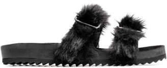 H&M Slides with faux fur - Black