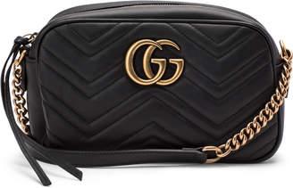 Gucci GG Marmont Camera Bag Matelasse Small Black