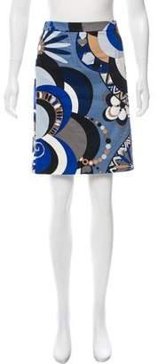 Emilio Pucci Printed Knee-Length Skirt