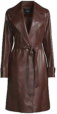 Lafayette 148 New York Women's Michael Leather Trench Coat
