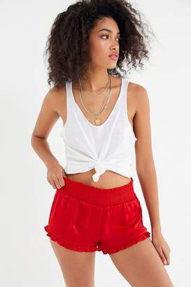 Out From Under Satin Ruffle Short