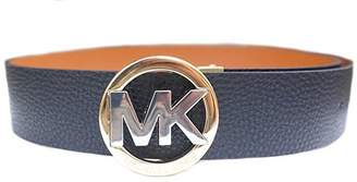 Michael Kors Womens Two Tone Buckle Reversible Leather Belt /Brown (XL)