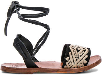 Beek Leather & Embroidery Toucan Sandals