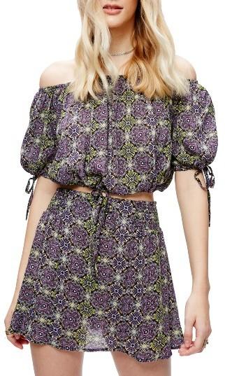 Women's Free People Electric Love Crop Top & Skirt Set