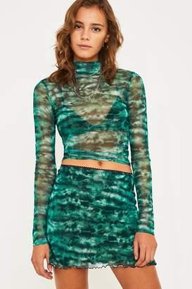 Urban Outfitters Tie-Dye Mesh Mini Skirt