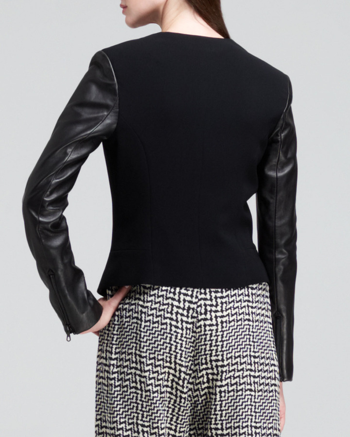 Rag and Bone Rag & Bone Pascal Leather-Sleeve Blazer
