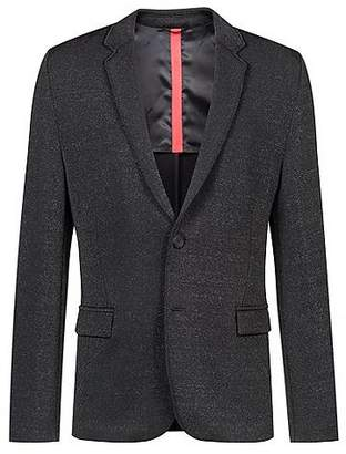 HUGO BOSS Slim-fit jacket in stretch fabric with back vent