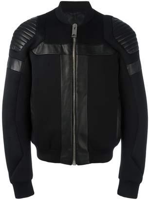 Les Hommes panelled bomber jacket