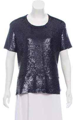IRO Reversible Sequin Short Sleeve Top