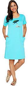 Factory Quacker Sequin Splash Knit Dress withPockets