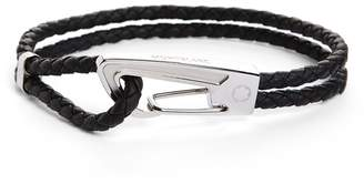 Montblanc Braided Leather Bracelet