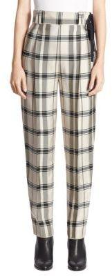 3.1 Phillip Lim Side-Tie Plaid Pants $495 thestylecure.com