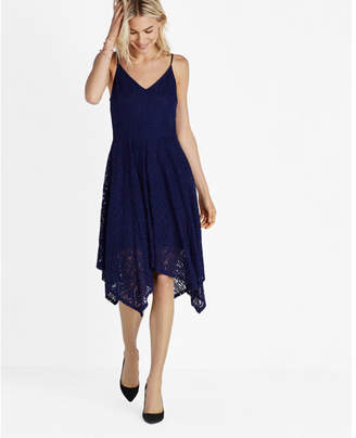 Express Lace Hi-lo Fit And Flare Dress $88 thestylecure.com