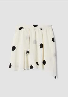 Derek Lam 10 Crosby Asymmetrical Polka Dot Mini Skirt